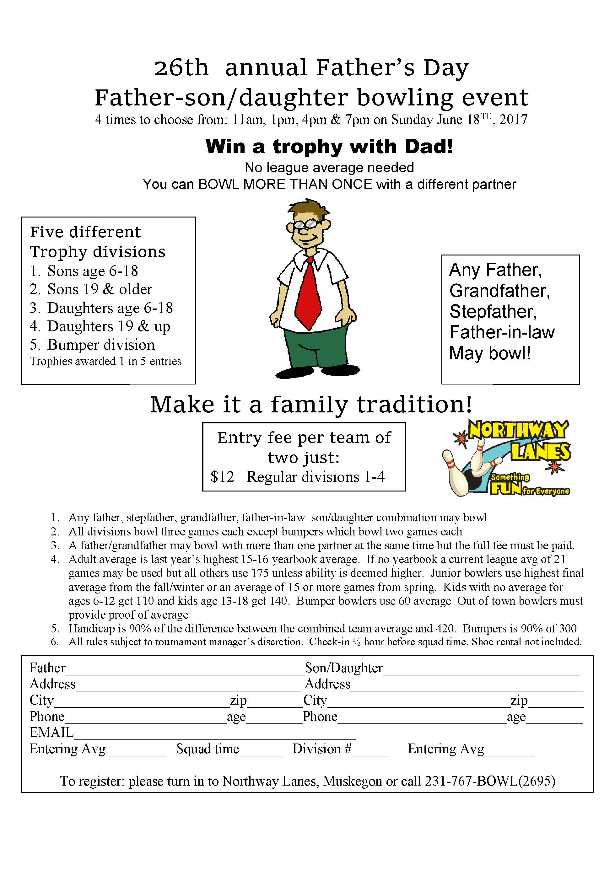 Fathers day tournament form